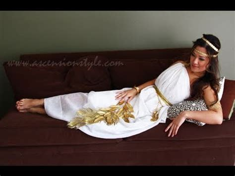 diy greek goddess costume easy tutorial    youtube
