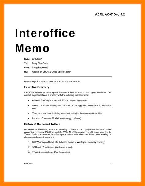 Memo Writing Template 5 sle office memo protect letters