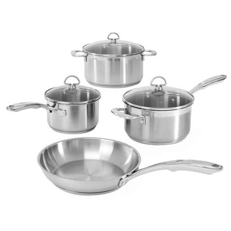 Set Supra7 Stainless chantal induction 21 steel 7 cookware set in stainless steel slin 7 the home depot