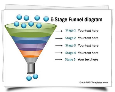 powerpoint funnel template powerpoint funnel diagram set