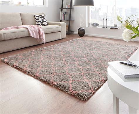 teppich hochflor design velours teppich hochflor grau rosa teppiche