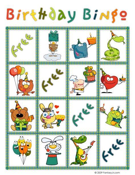 printable birthday bingo cards birthday bingo card 1 woo jr kids activities