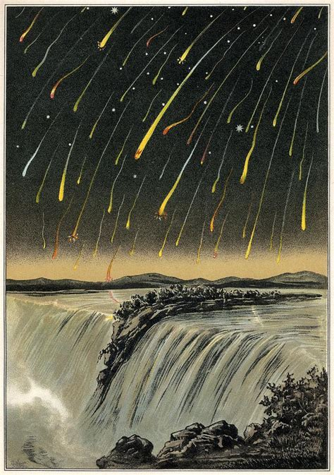 Meteor Shower Of 1833 by Leonid Meteor Shower Of 1833 Artwork Photograph By Detlev