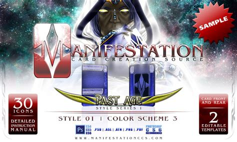 Manifestation Card Template by Manifestation Ccs Past Age Series I Style 01 Sle