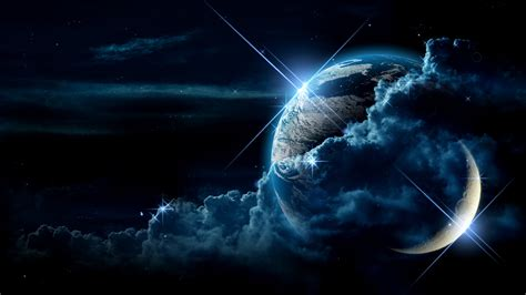 Earth Moon Wallpaper Hd | earth and moon wallpaper hd by loulines on deviantart
