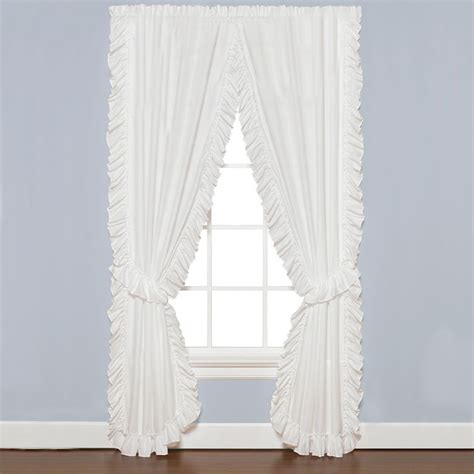 Ruffled Window Curtains Saturday Ruffled Priscilla Curtain Window Treatments