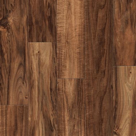 shop allen roth 4 96 in w x 4 23 ft l handscraped natural acacia handscraped wood plank