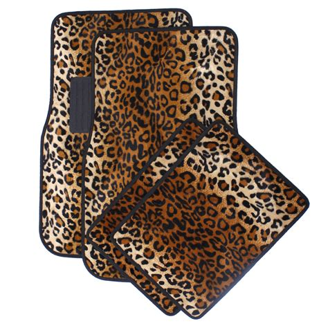 Leopard Car Floor Mats by Car Floor Mats For Auto 4pc Carpet Beige Safari Leopard