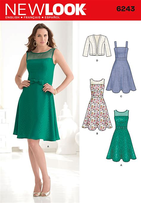 new look 6890 misses easy 2 hour pullover dress or mini step out in style as you celebrate the season sewing