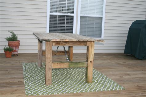 Rustic Outdoor Dining Table Remodelaholic How To Build A Rustic Outdoor Dining Table Guest Remodel