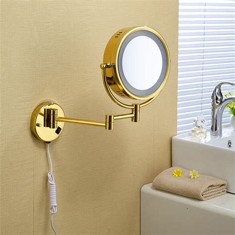 bathroom makeup mirror high quality 9 quot brass 1x3x magnifying bathroom wall