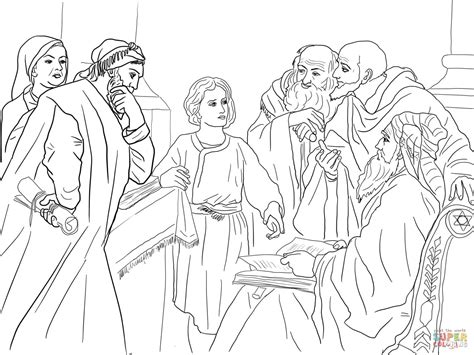 coloring pages baby jesus in the temple boy jesus in the temple coloring page free printable