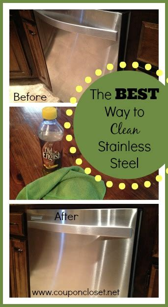how to clean stainless steel with very little work