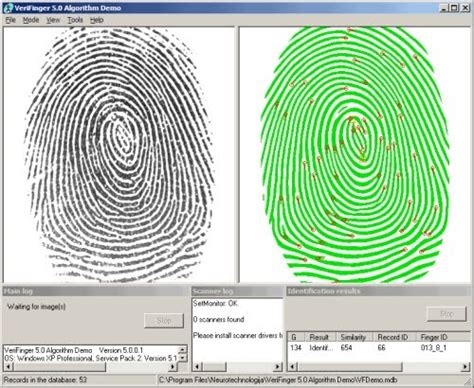 pattern matching demo lesson 2 fingerprints magic of forensic science