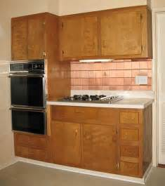 Kitchen Cupboard Furniture by Wood Kitchen Cabinets In The 1950s And 1960s Quot Unitized