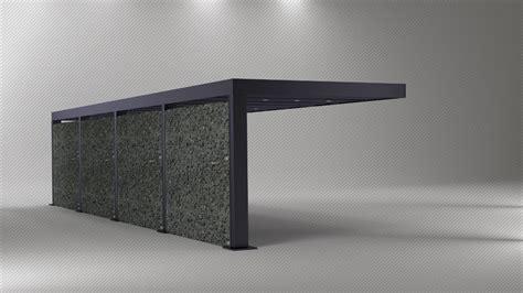 designer carport metall freitragendes metall carport bestbauhaus