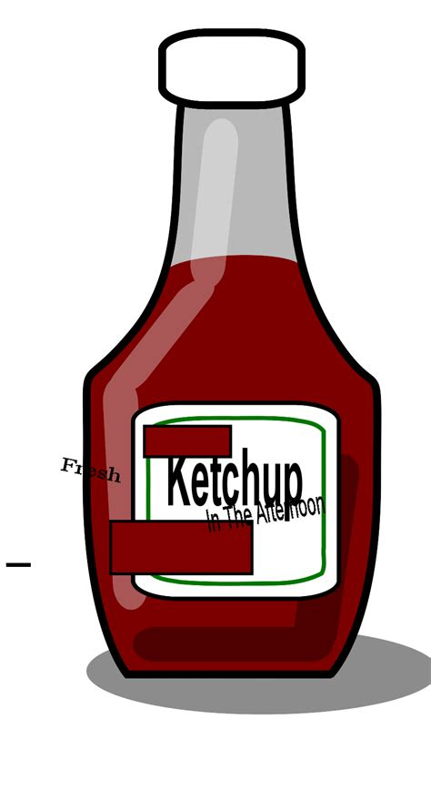 ketchup clipart fresh ketchup in the afternoon clip vector clip