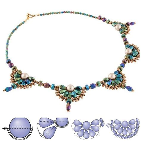 necklace pattern pinterest 10 best bilder zu beaded necklace patterns auf pinterest
