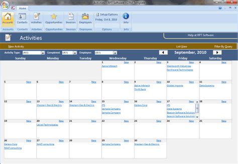 access template screenshots crm template screenshots