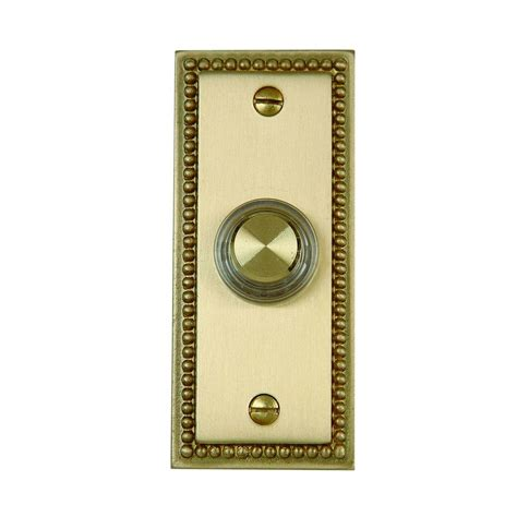 wired doorbell button with light hton bay wired lighted door bell push button aged