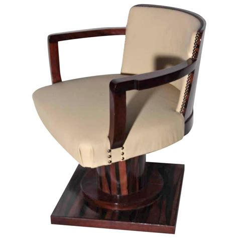 Rotating Armchair Rotating Desk Armchair In Macassar Deco Period
