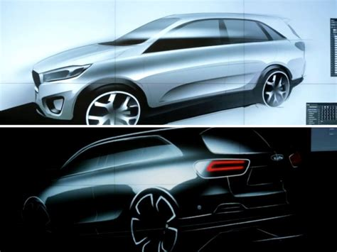 Kia Designer Kia Teases New Sorento With Design Sketches W
