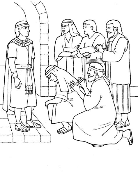 Forgiveness Joseph In Prison Coloring Pages