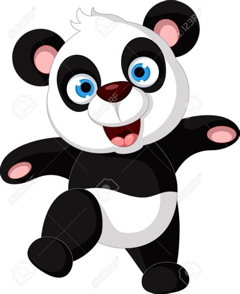 panda clip panda clipart happy animal pencil and in color panda