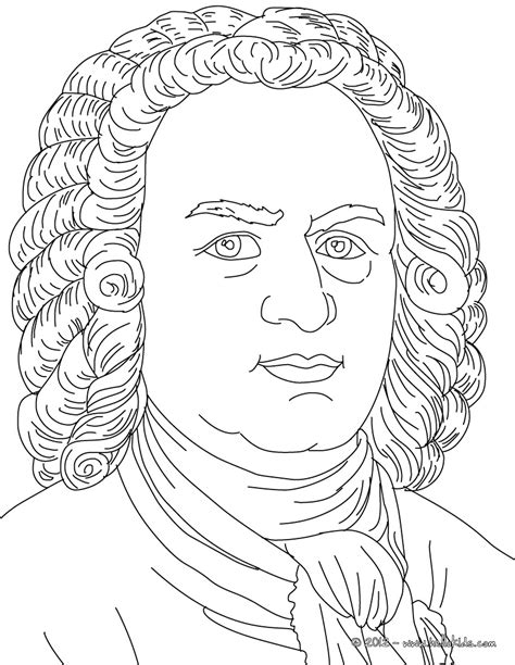 music composer coloring pages johan sebastian bach famous german composer coloring page