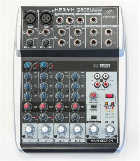 Mixer Behringer Xenyx Q802 Usb behringer xenyx q802 usb mixer audio interface reverb