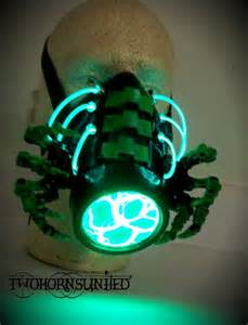 The facehugger cybernetic alien gas mask by twohornsunited on