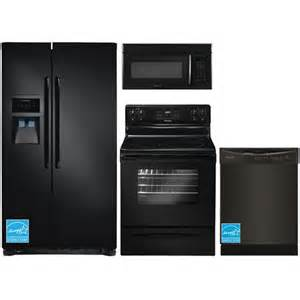 frigidaire kitchen appliance packages frigidaire ffhs2313le black complete kitchen package brandsmart usa