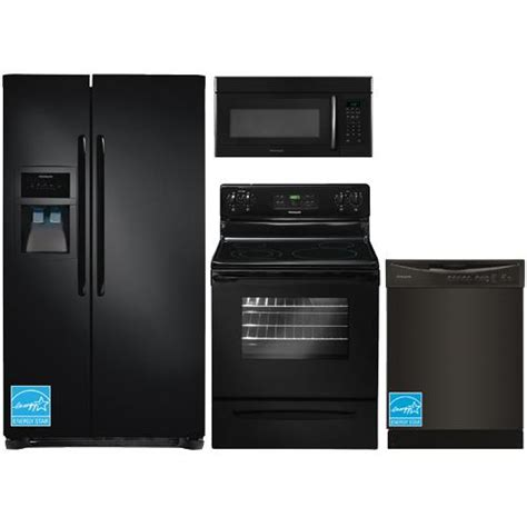 frigidaire kitchen appliance packages frigidaire ffhs2313le black complete kitchen package