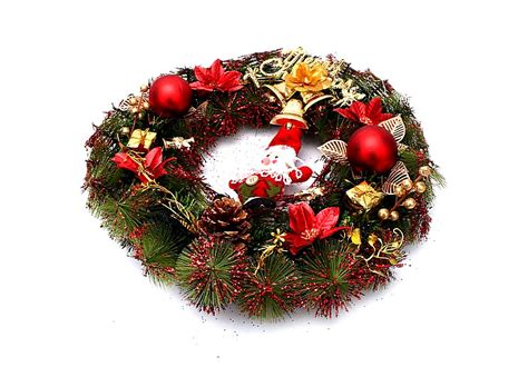 claus and gifts christmas wreath home decoration red ca 62