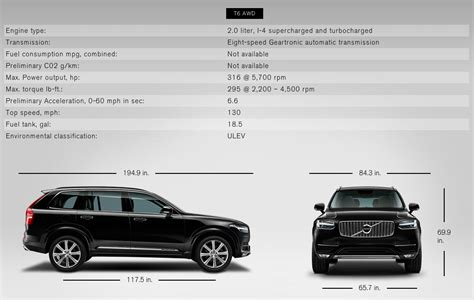 xc specifications volvo xc volvo xc volvo cars volvo