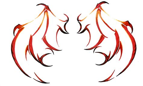 devil wing tattoo designs tribal wings design