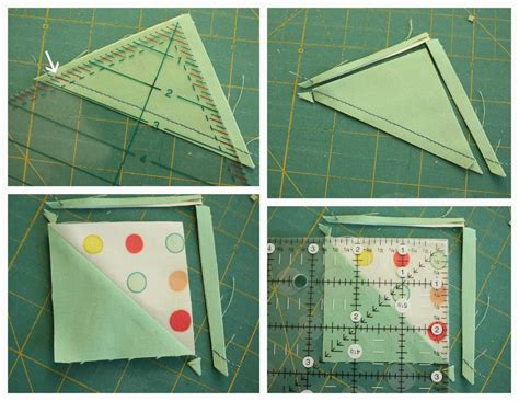 Squaring A Quilt Block by Half Square Triangle Cuts