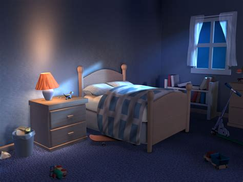 3d lighting and compositing artist bedroom scene night scene lighting 2