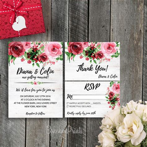 Wedding Invitation Design Etsy etsy wedding invitations wedding invitation templates