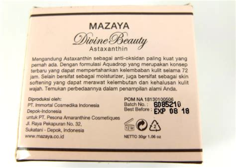 Mazaya Mosturizing Review Mazaya Moisturizer With Astaxanthin Yukcoba In