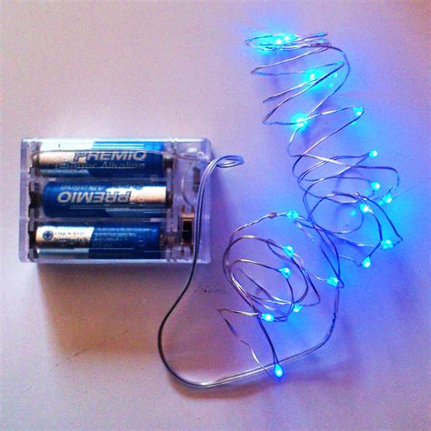 blue battery operated lights blue fairy lights qualizzi starry and string lights