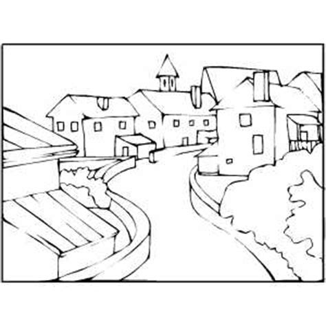 town coloring pages coloring pages