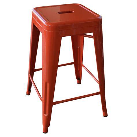 amerihome bs24orng 24 inch orange metal bar stool 2