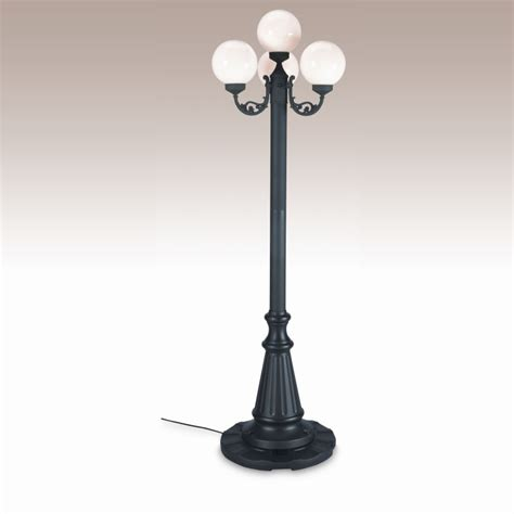 Globe Post Lights Outdoor European 4 Globe Portable Patio L Black Post White Globes