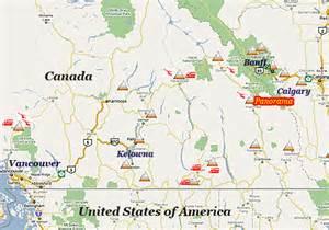 panorama canada map getting to panorama ski resort bc