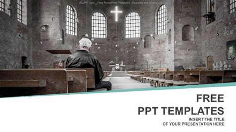 Man Praying In Church Powerpoint Templates Free Powerpoint Backgrounds For Church 2