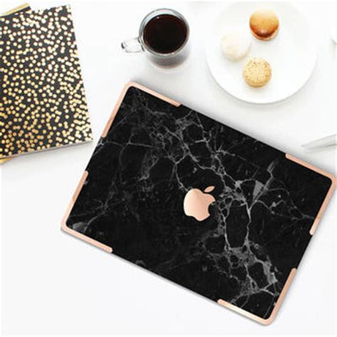 Macbook 12 Zoll Aufkleber by Black Marble Gold Accents Hybrid From Cliqueshopsetsy On