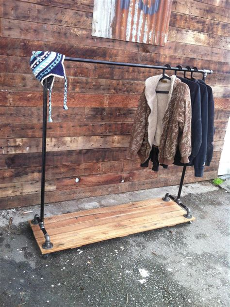 Pipe Garment Rack by Industrial Cast Iron Pipe Clothing Rack Crafts