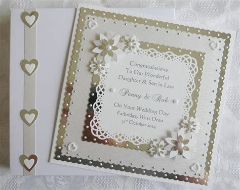 Dazzling Handmade Cards - wedding day congratulations card for