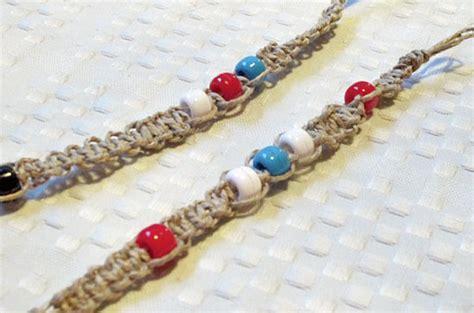 Different Knots For Hemp Bracelets - square knot beaded hemp bracelet factory direct craft